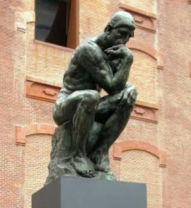 Rodin sculpture, the Thinker