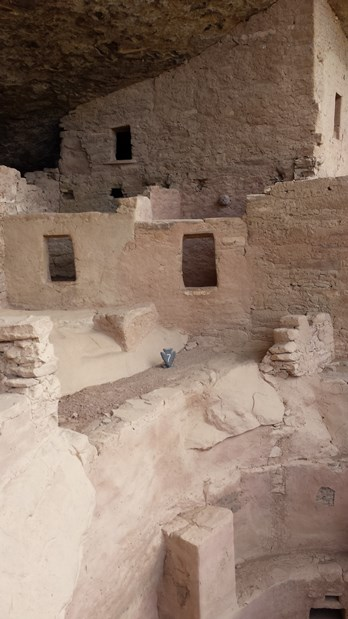 cliff dwelling structure at Mesa Verde