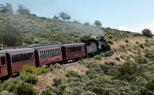 The Cumbres and Toltec Scenic Railroad enroute to Chama