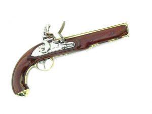 Flintlock pistol, circa 1790