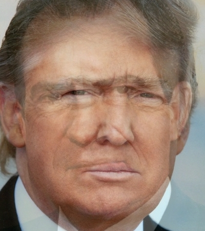 Trump and Nixon morphed image