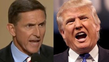 side by side pictures of Michael Flynn and Donald Trump