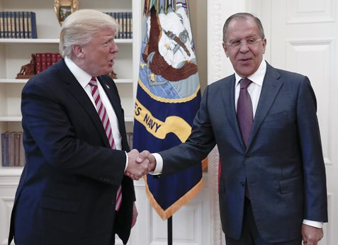 Trump and Sergey Lavrov in Oval Office